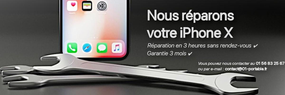 Réparation iPhone X
